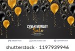 cyber monday sale background... | Shutterstock .eps vector #1197939946