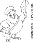 coloring page outline of... | Shutterstock .eps vector #1197941686