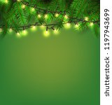 vector christmas lights ... | Shutterstock .eps vector #1197943699