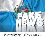 3d render  fake news lettering... | Shutterstock . vector #1197943870