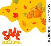 autumn sale discount banner...   Shutterstock .eps vector #1197944950