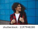 young happy caucasian girl... | Shutterstock . vector #1197948280