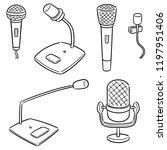 vector set of microphone | Shutterstock .eps vector #1197951406