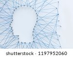 human head shape made from a... | Shutterstock . vector #1197952060