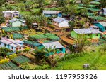 small village in mountains near ... | Shutterstock . vector #1197953926