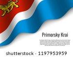 waving flag of primorsky krai... | Shutterstock .eps vector #1197953959