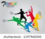 visual drawing tennis sport... | Shutterstock .eps vector #1197960340