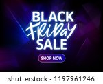 black friday sale banner design.... | Shutterstock .eps vector #1197961246