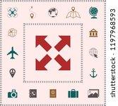 extend  resize icon. cross... | Shutterstock .eps vector #1197968593