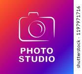 camera vector icon. photo line... | Shutterstock .eps vector #1197971716