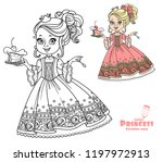 beautiful little princess with... | Shutterstock .eps vector #1197972913