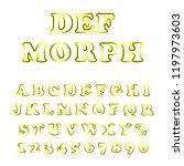 vector of modern playful font... | Shutterstock .eps vector #1197973603