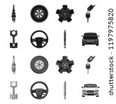 vector illustration of auto and ... | Shutterstock .eps vector #1197975820