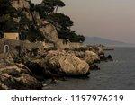 seacoast of cap d ail at...   Shutterstock . vector #1197976219