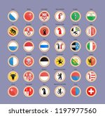set of vector icons. cantons... | Shutterstock .eps vector #1197977560