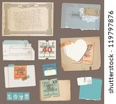 set of old paper objects   for... | Shutterstock .eps vector #119797876