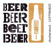 beer typographical vintage... | Shutterstock .eps vector #1197984820