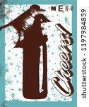 beer menu typographical vintage ... | Shutterstock .eps vector #1197984859