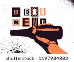 beer menu typographical vintage ... | Shutterstock .eps vector #1197984883