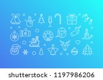 happy new year vector blue... | Shutterstock .eps vector #1197986206