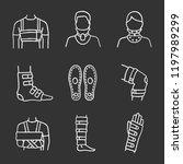trauma treatment chalk icons... | Shutterstock .eps vector #1197989299