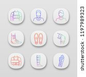 trauma treatment app icons set. ... | Shutterstock .eps vector #1197989323