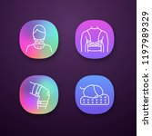 trauma treatment app icons set. ... | Shutterstock .eps vector #1197989329