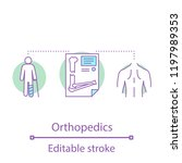 orthopedics concept icon.... | Shutterstock .eps vector #1197989353
