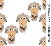sheep  ram seamless pattern....   Shutterstock .eps vector #1197990880
