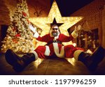 funny santa claus in room with... | Shutterstock . vector #1197996259