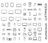 set of icons computer devices... | Shutterstock . vector #1197996553