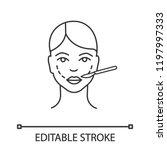 cheek lift surgery linear icon. ...   Shutterstock .eps vector #1197997333