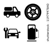 set of 4 simple vector icons... | Shutterstock .eps vector #1197997840