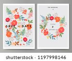wedding illustration with... | Shutterstock .eps vector #1197998146
