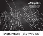 helping hand concept. gesture ...   Shutterstock .eps vector #1197999439