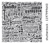 poster with different coffee... | Shutterstock .eps vector #1197999643