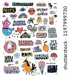 collection of illustrations in... | Shutterstock .eps vector #1197999730