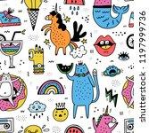fun seamless pattern... | Shutterstock .eps vector #1197999736