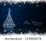 abstract winter blue background ... | Shutterstock .eps vector #119800078