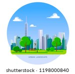 urban landscape. city with... | Shutterstock .eps vector #1198000840