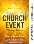 christian invitation poster... | Shutterstock .eps vector #1198002373
