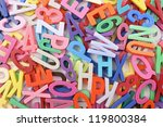 Alphabet Background With Mixed...