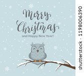 lettering merry christmas on... | Shutterstock .eps vector #1198006390