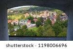 view of bran  village from... | Shutterstock . vector #1198006696