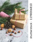 christmas gift boxes decoration ... | Shutterstock . vector #1198006810