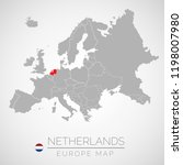 map of european union with the... | Shutterstock .eps vector #1198007980