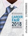 recruitment design poster. we... | Shutterstock .eps vector #1198008883