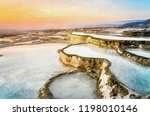 carbonate travertines the... | Shutterstock . vector #1198010146