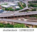motorway complex road junction... | Shutterstock . vector #1198012219