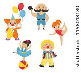 circus theme. set of circus...   Shutterstock .eps vector #1198018180